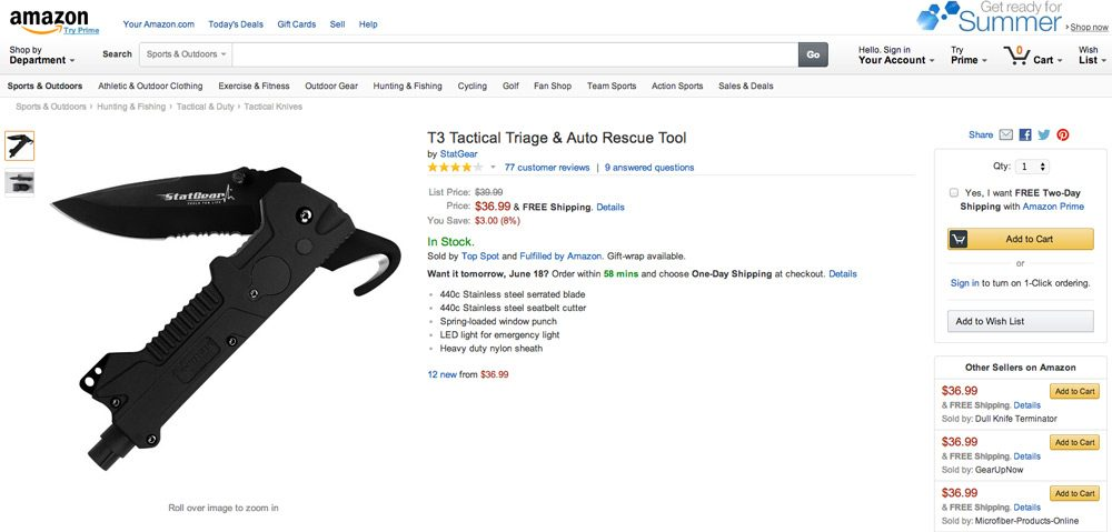 Amazon ranks high for this product due to all the paid links.