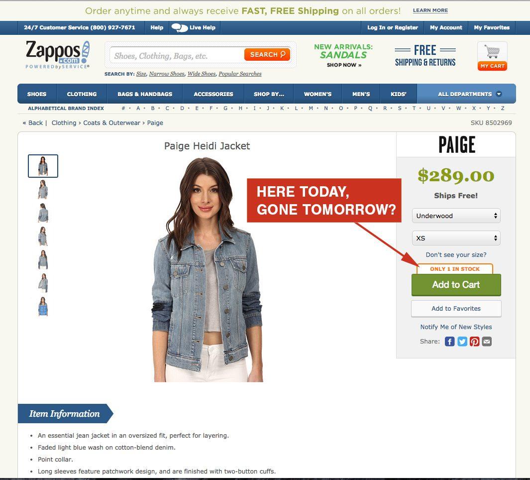 zappos-scarcity