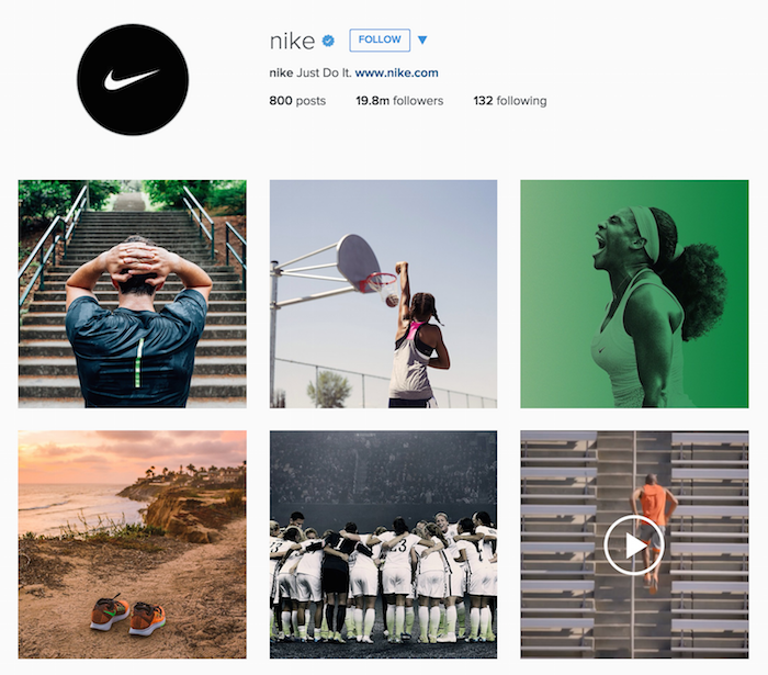 Nike Instagram Account Has Great Visuals