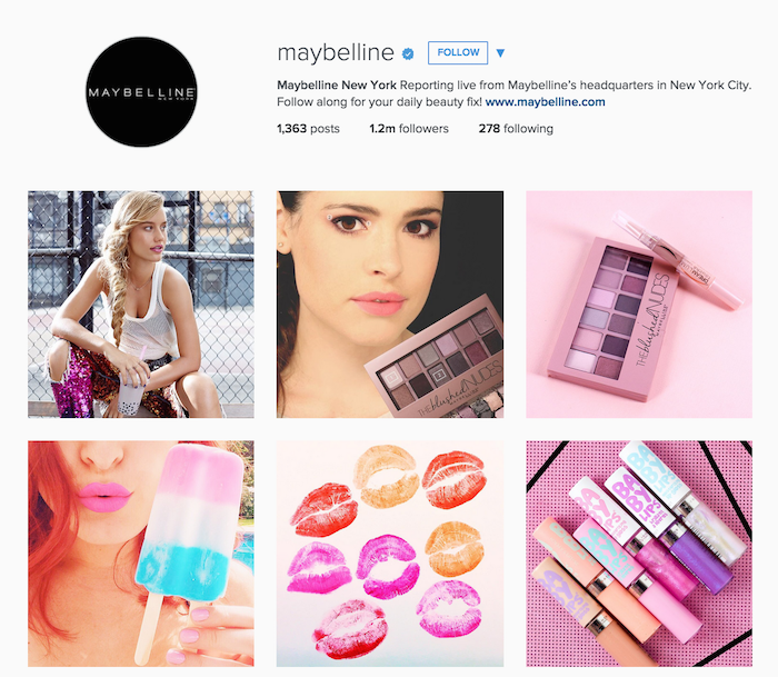 Maybelline Makeup has similar approach but they've tailored things to their brand and audience.