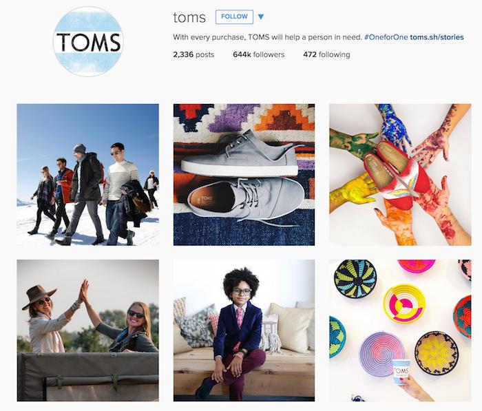 TOMS Instagram