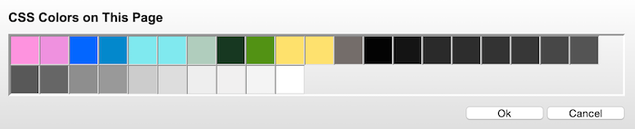 Webpage Color Analyzer option.