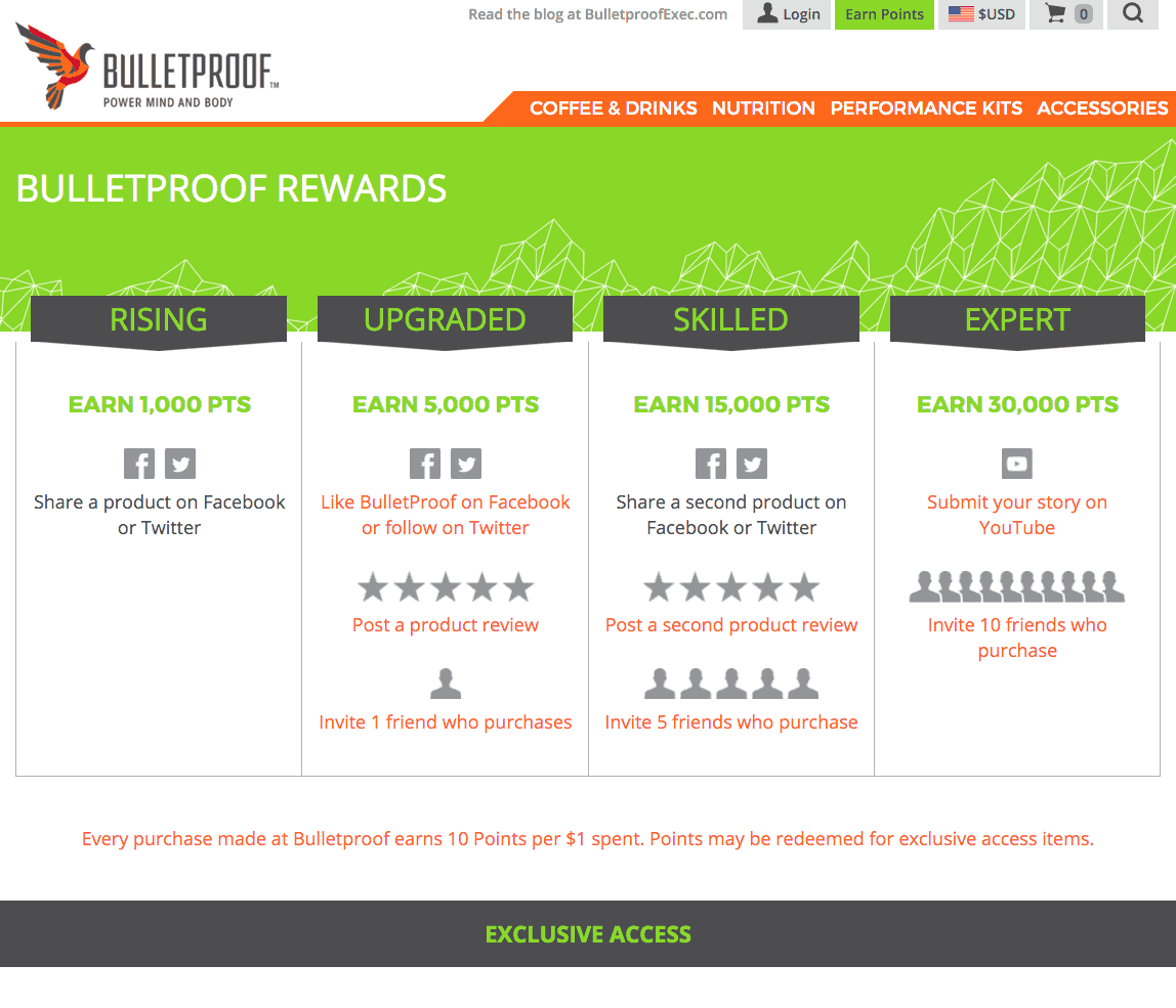 BulletProof: Milestones and exclusive