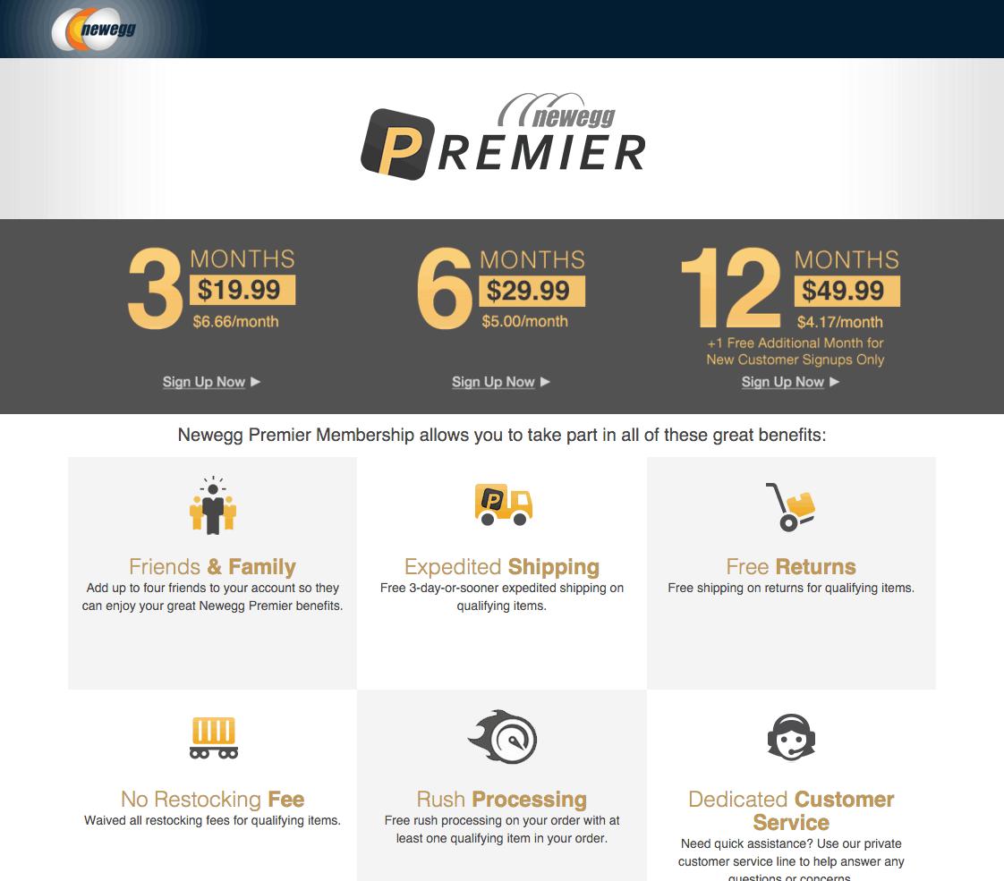 New Egg's Paid Rewards Program