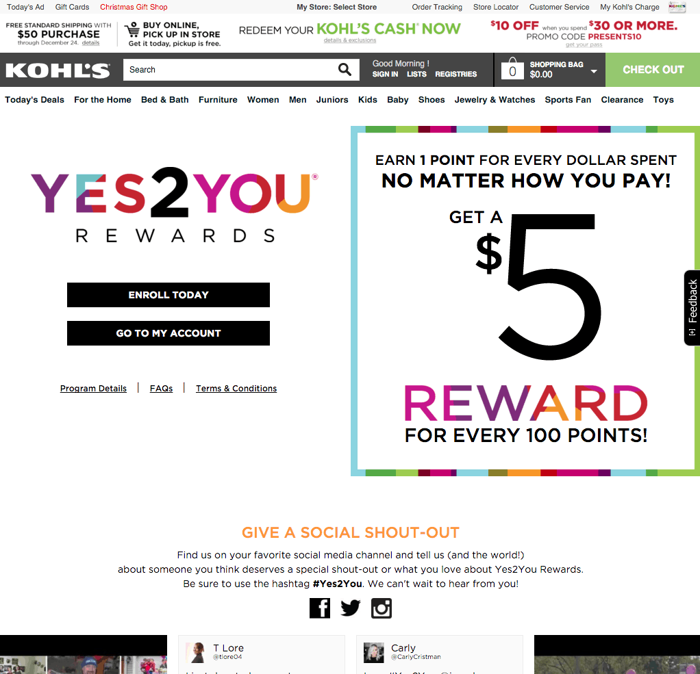 Sign Up for Kohl s Rewards Yes2You Rewards Kohl s
