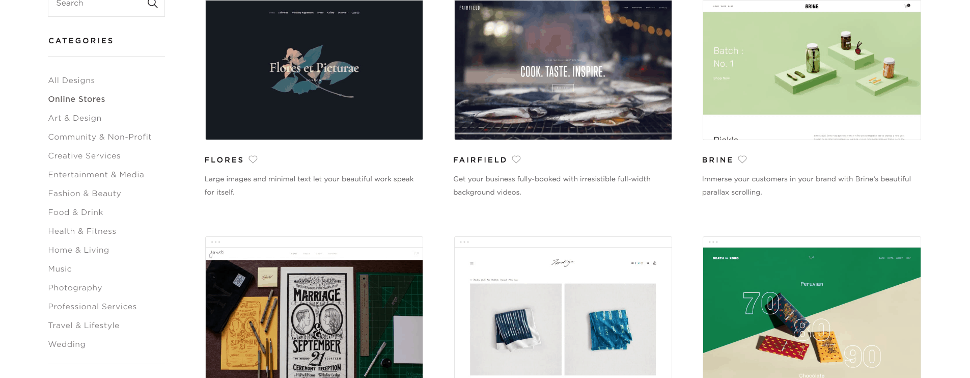Online Store Website Templates — Squarespace