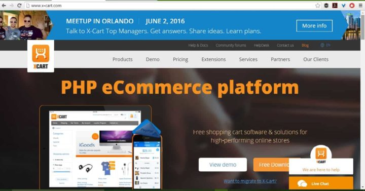 X cart open source ecommerce