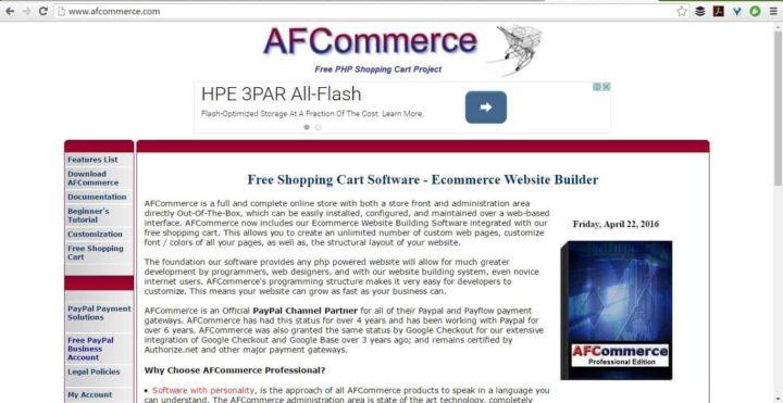 Screenshot afcommerce