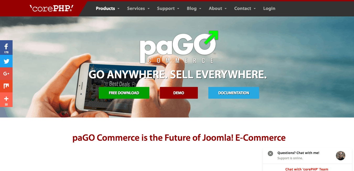 paGO Commerce E Commerce for Joomla