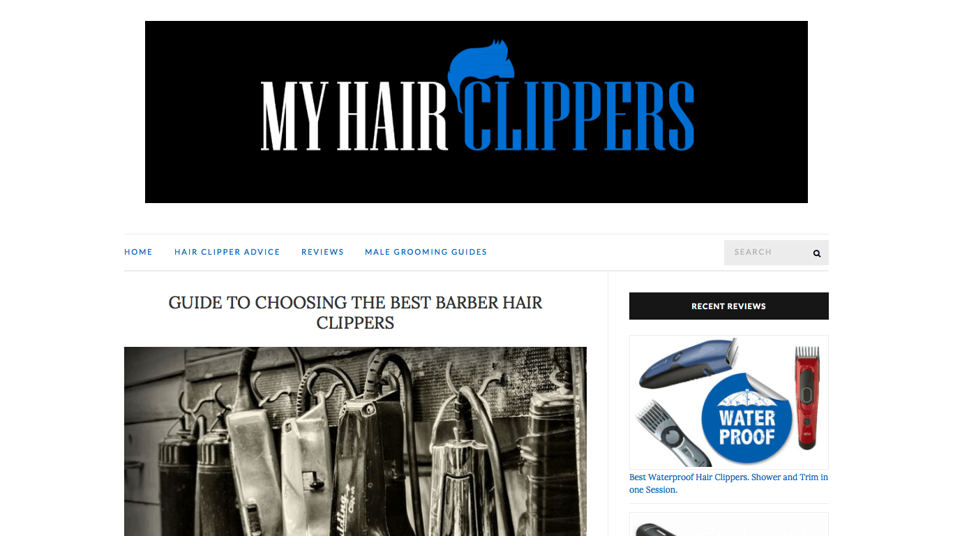 My Hair Clippers' Blog-Like Homepage