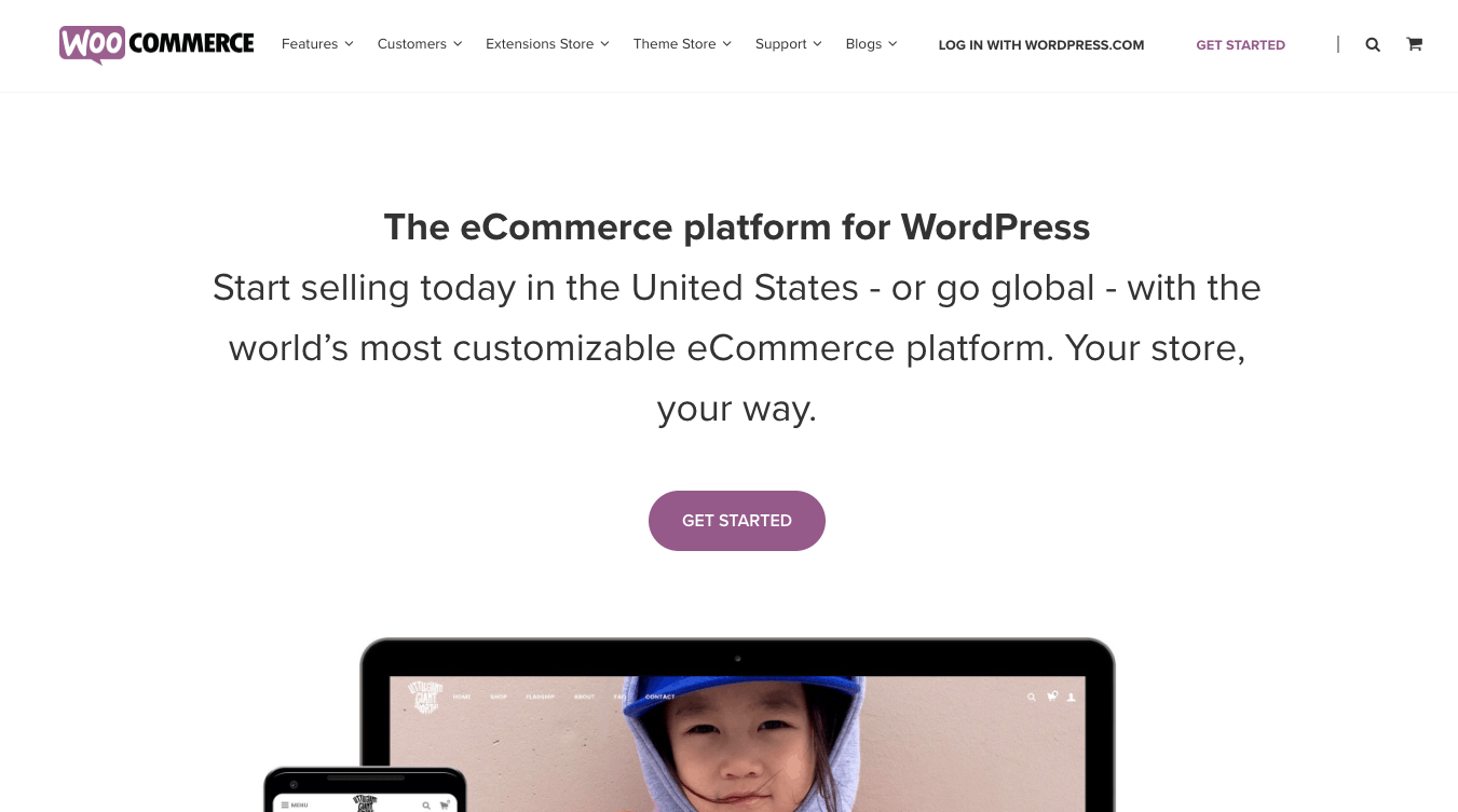 WooCommerce Home Page 2018