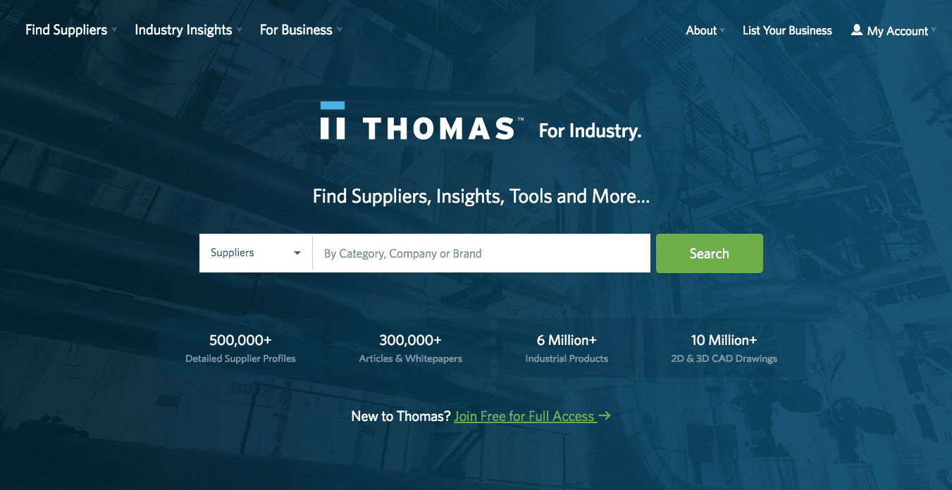 ThomasNet® Product Sourcing and Supplier Discovery Platform