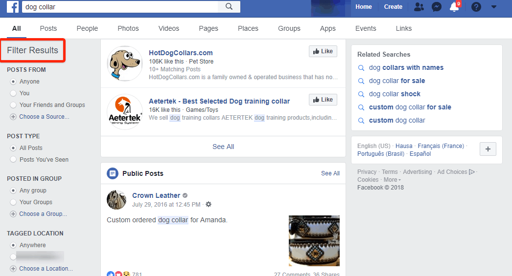 Facebook Product Research