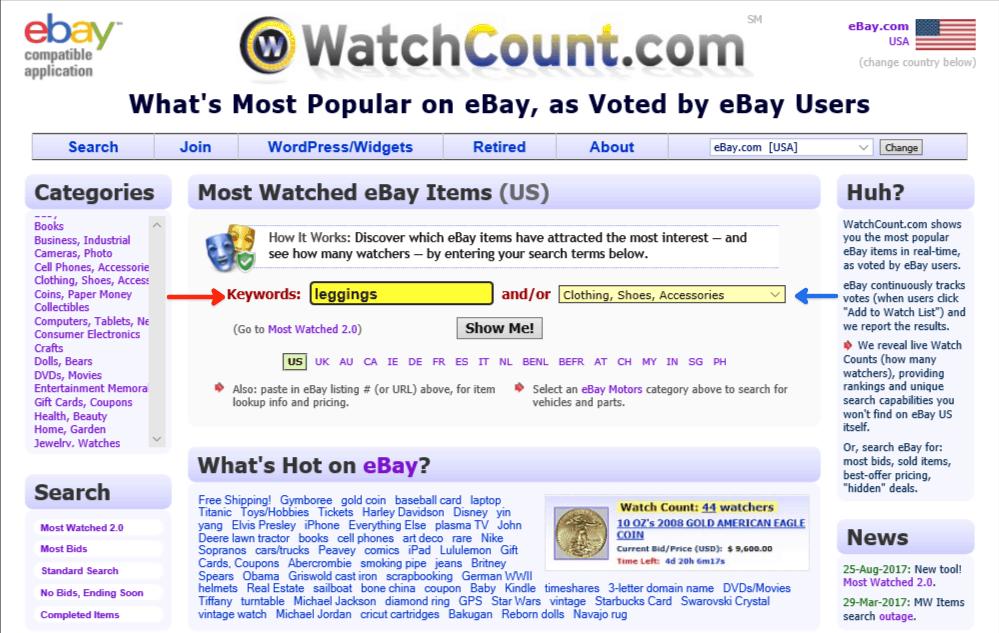 Ebay Watchcount