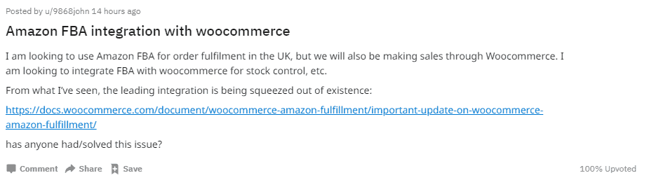 WooCommerce Does Not Integrate With Amazon FBA