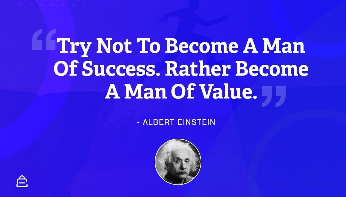 Quote 20 Einstien Value