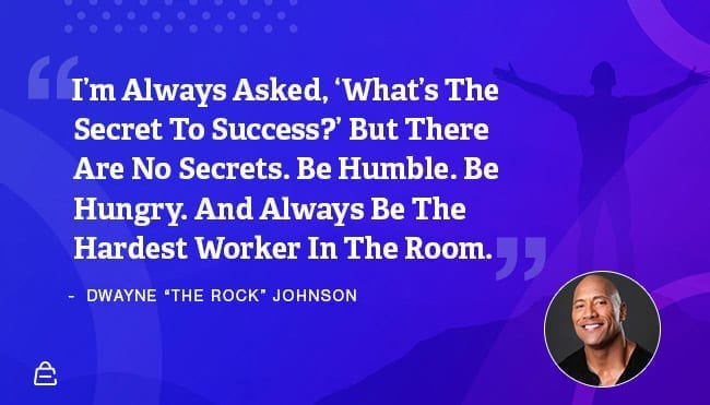 Quote 23 The Rock Hard Work