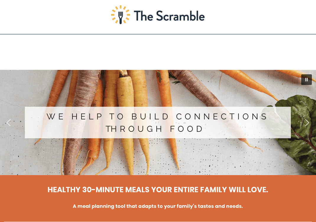 The Scramble Meal Planning
