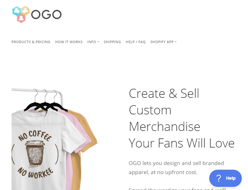 Australian Print on Demand T shirts and Merch with OGO Shopify Stores