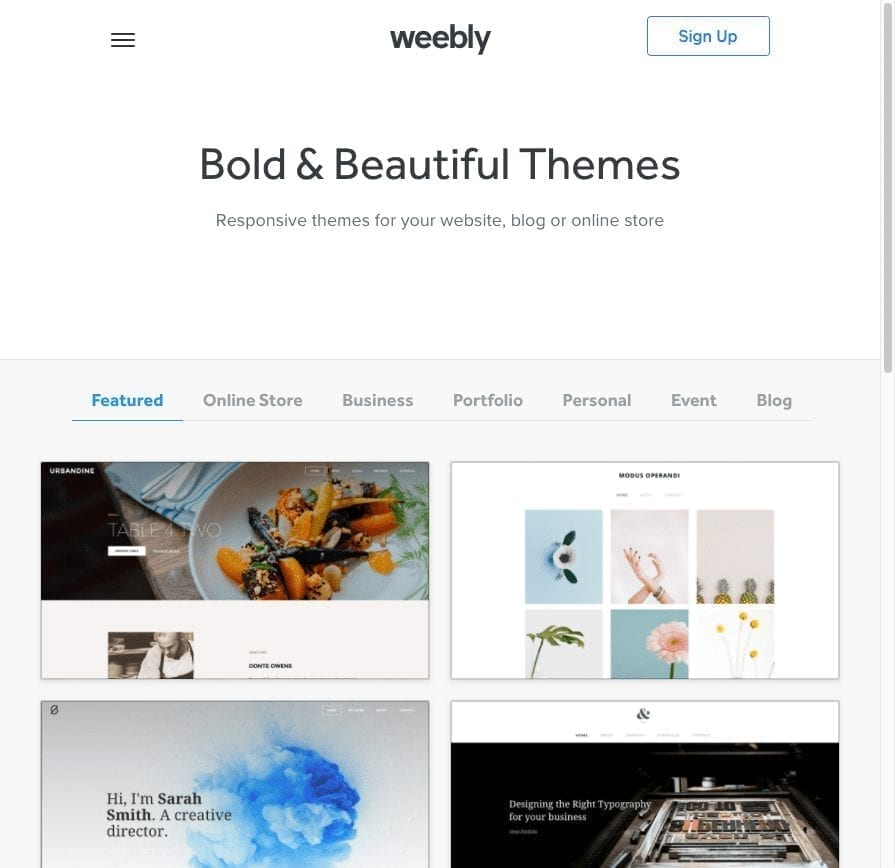 weebly theme store