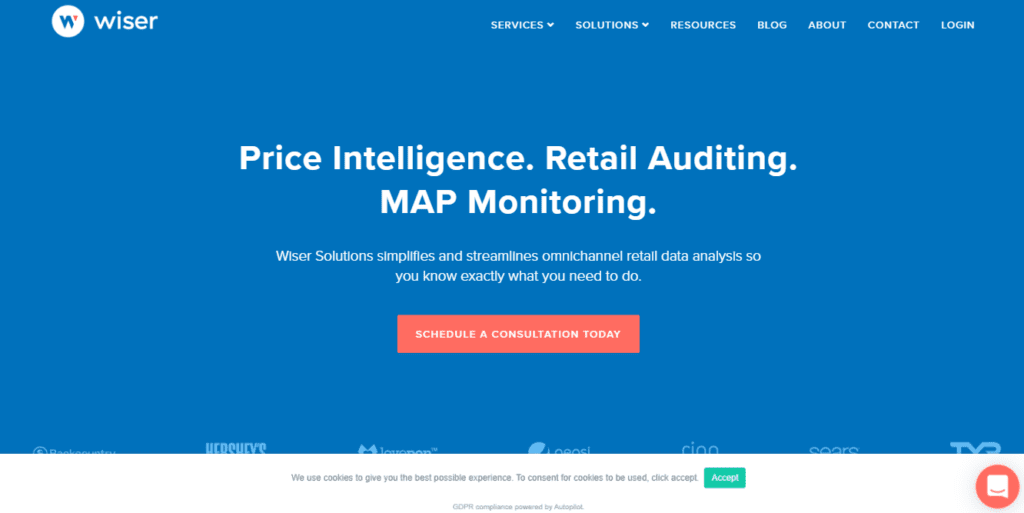 Price Intelligence. Map Pricing. Retail Auditing. Wiser Solutions