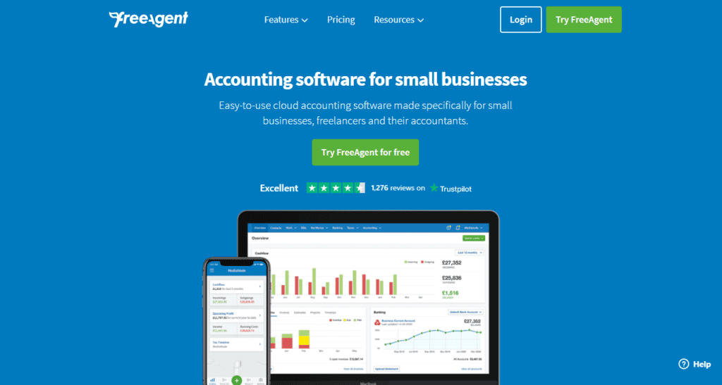 Easy To Use Small Business Software Freeagent