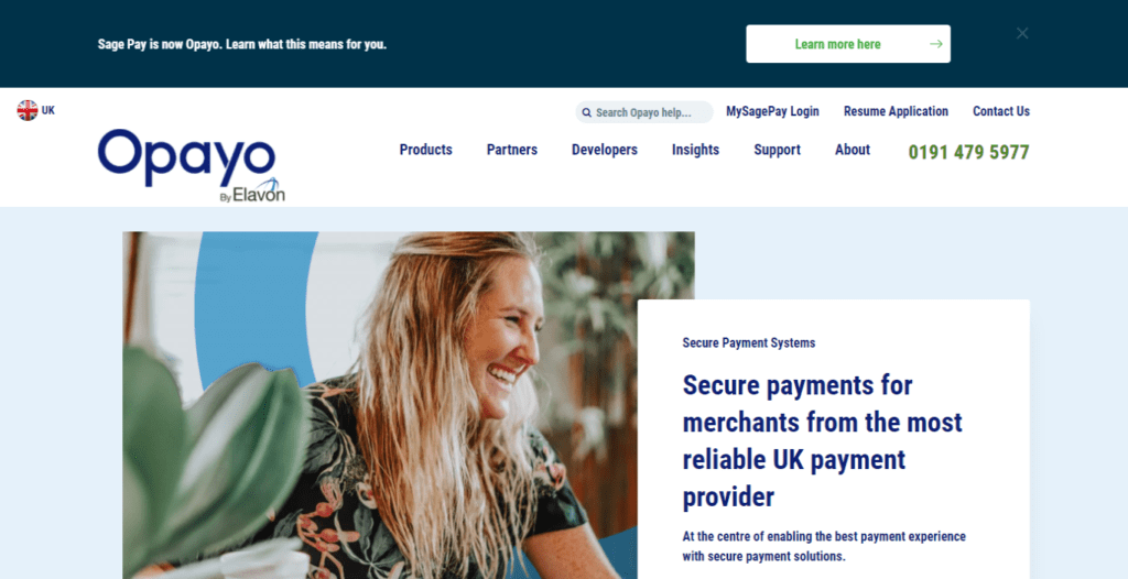 Secure Payment Processing Services Opayo UK Formerly Sage Pay