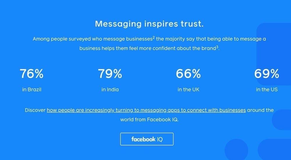 facebook messaging inspires trust