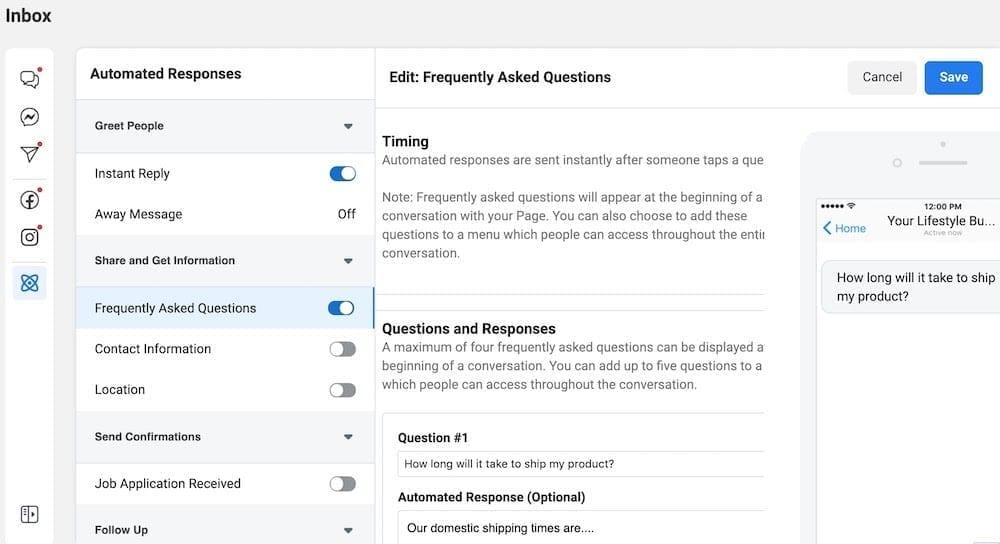 Step 4: Create answers to 'FAQ's