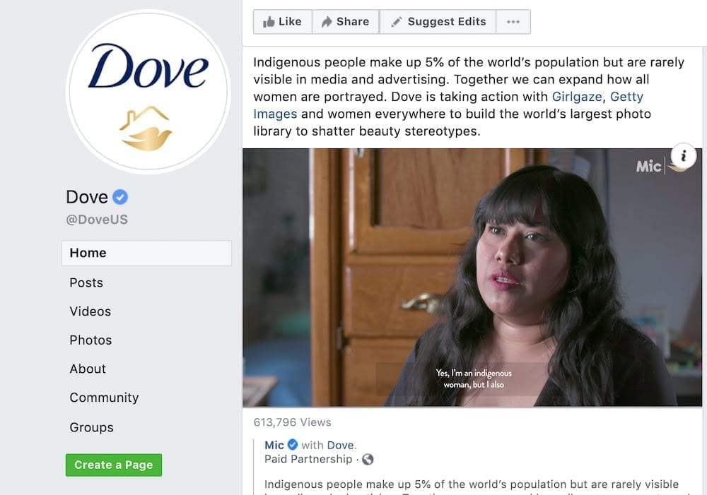 Dove is talked about more for its focus on beauty and positive body image than it is for its bath products.