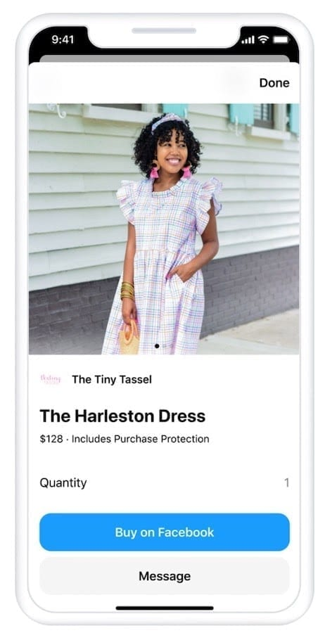 Facebook is making huge changes to their shopping experience with the option to turn your business page into a full end to end ecommerce store including product tags in posts so a visitor can click a Facebook ad and buy instantly on the fully integrated Facebook checkout system (only available in the US at the time of writing).