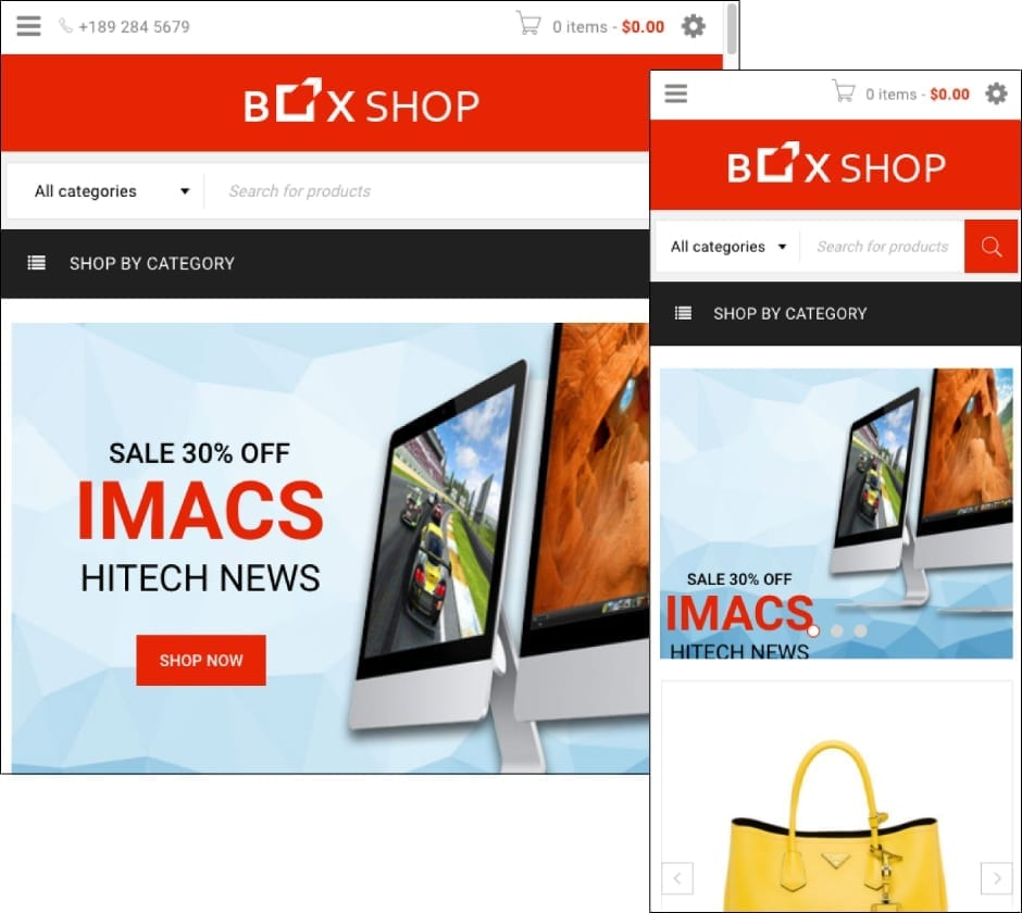 BoxShop WordPress ecommerce theme