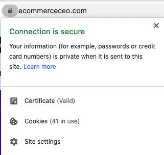 SSL More Information