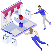 Attract Customers To Store Illustration
